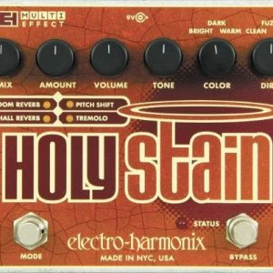 Electro Harmonix Holy Stain Guitar Multi-Effects Pedal with Distortion/Reverb/Pitch/Tremolo