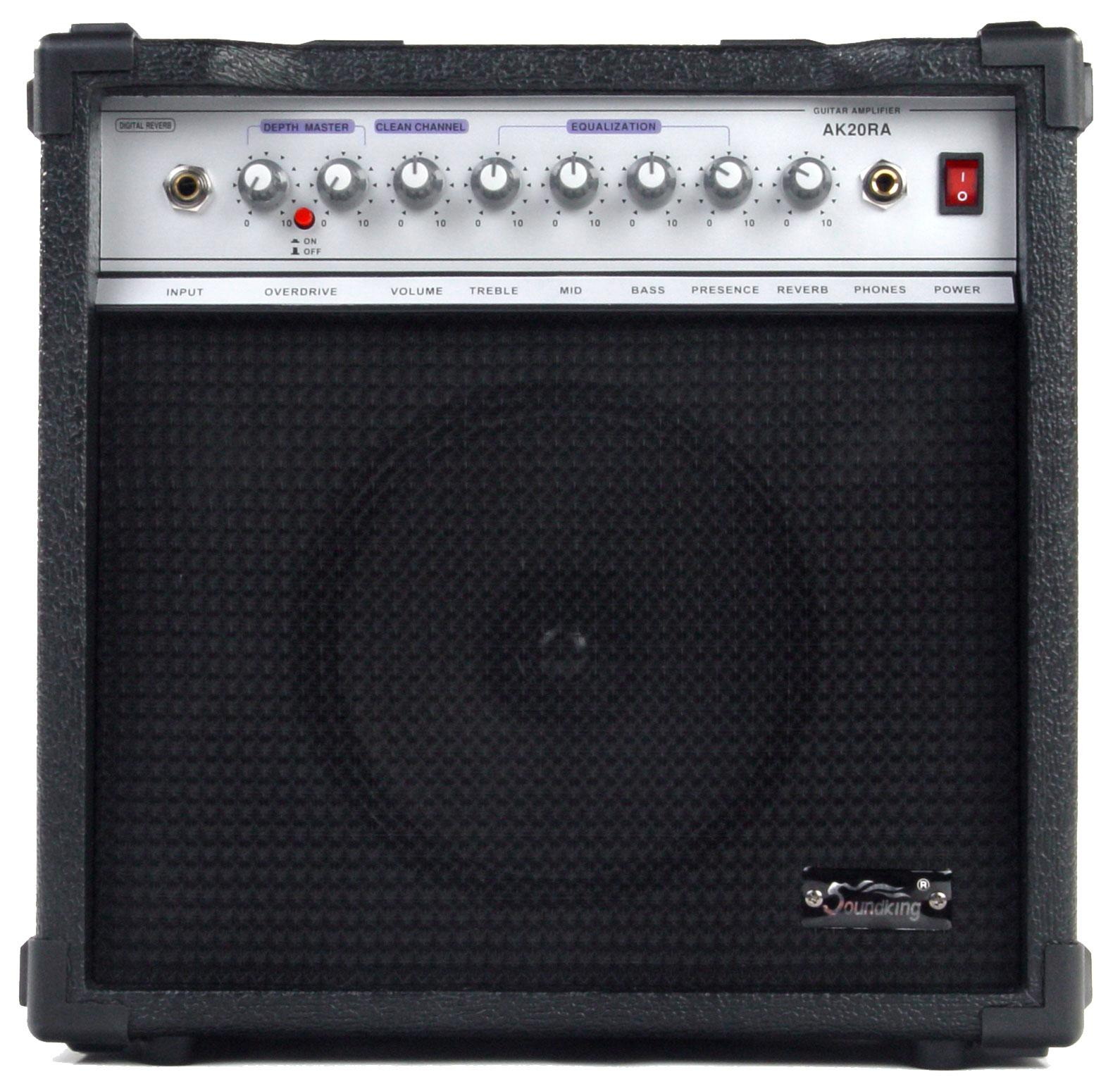 SoundKing AK20 Solid State Combo Guitar Amplifier (20W-108)